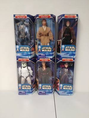 Star Wars Attack of the Clones Hasbro 12 inch Lot of 6 for Sale for sale  New Lenox, IL