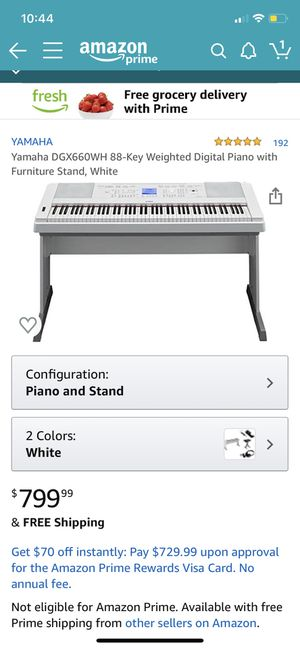 Yamaha keyboard with furniture stand and white bench for Sale in Brooklyn, NY
