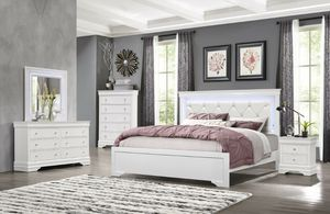 $29 down no credit needed, 90 days NO INTEREST white queen 5pc bedroom set for Sale in Washington, DC