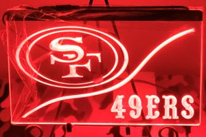SF 49ers 3D Engraved LED Neon Light Sign Wall Decor for Sale in Akron, OH