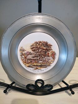 Vintage Currier And Ives Pewter Plate for Sale in Pleasant Hill,  IA