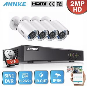 ANNKE 4pcs 2MP HD TVI Indoor Outdoor 2MP Home Security Camera IR Night Vision for Sale in Baldwin Park, CA