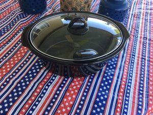 Rival Crock Pot black porcelain insert and lid for Sale in Bakersfield, CA