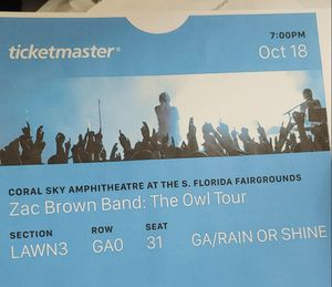 Zac brown tickets for Sale in Fort Lauderdale, FL