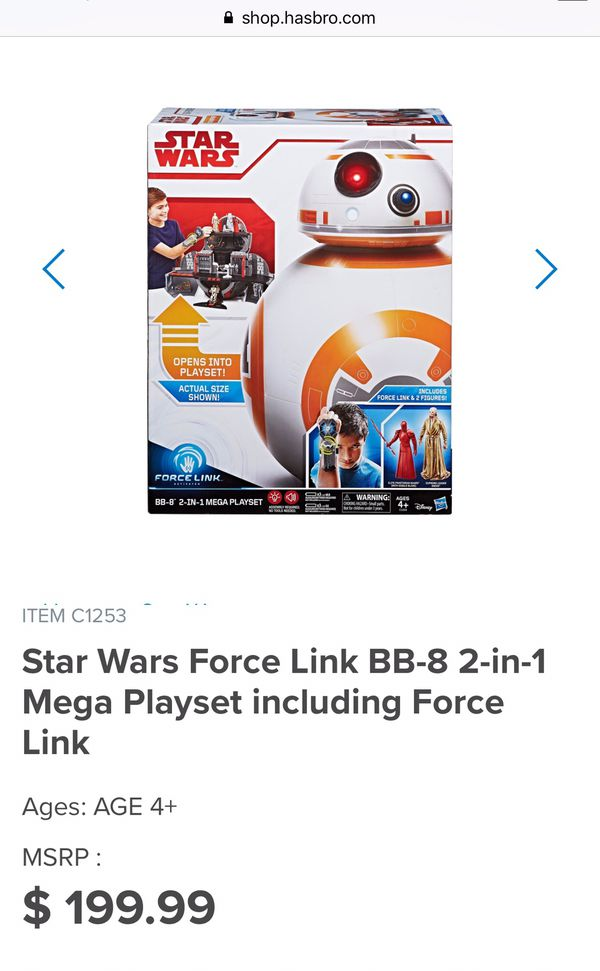 NEW!! Star Wars Force Link BB-8 2-in-1 Mega Playset for Sale in Chula  Vista, CA - OfferUp