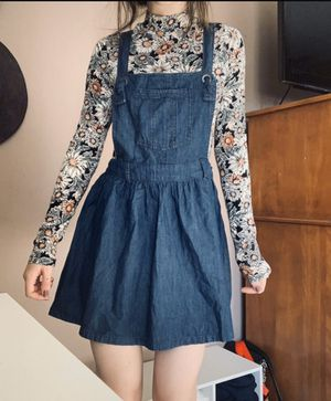 Cute denim overall dress - Small for Sale in Phenix City, AL