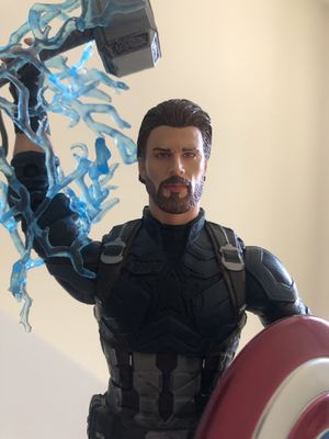Marvel Legends custom painted Infinity War Captain America head for Sale in San Jose, CA