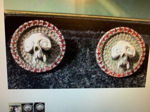 Custom Sterling Silver, Diamond and Garnet Earrings for Sale in Bullard, TX