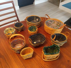 10 Authentic Longaberger Collectible Baskets for Sale in Marina del Rey, CA