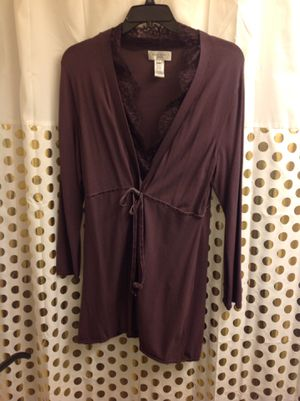 Nine West Lace Long Cardigan 1X Plus Size EUC purple for Sale in Federal Way, WA