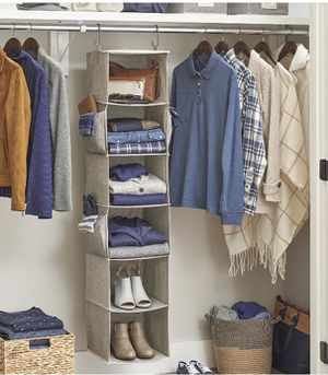 Closet organizer and 6 dozens of hangers for Sale in Wheeling, IL
