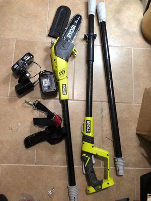 Ryobi 18v cordless pole Saw kit for Sale in Dallas, TX