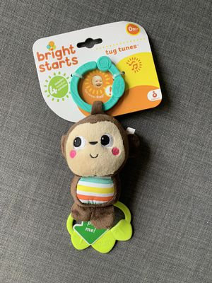 BNWT Baby Bright Starts Tug Tunes Monkey Toy for Sale in Seattle, WA