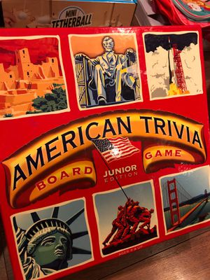 New American trivia board game Junior edition – ages nine and up - teach history, geography for Sale in AZ, US