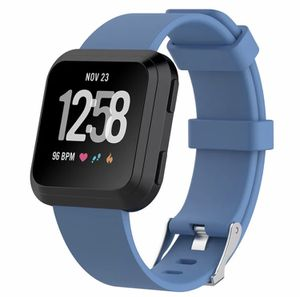 Fitbit Versa Solid Color blue Silicone Band for Sale in Salt Lake City, UT