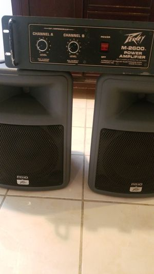 Peavey amplifier and speaker for dj for Sale in Adelphi, MD