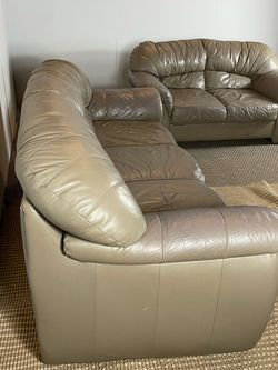 Leather Couch And Loveseat Sofa Set *Free Delivery* for Sale in Cherry Hill,  NJ