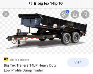 2021 Big Tex LP 14 16' Low profile Dump Trailer. for Sale in Scottsdale, AZ