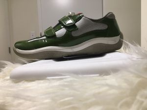 Prada Sneakers Green Patent Leather 100% Authentic for Sale in New York, NY