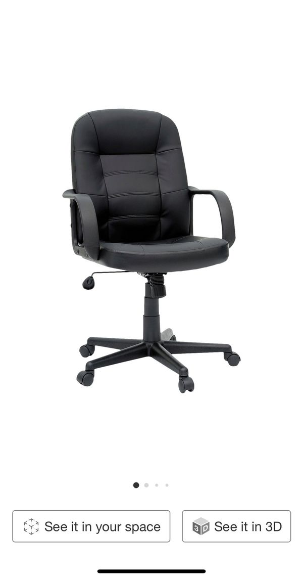 office chair bonded leather black- Room essentials