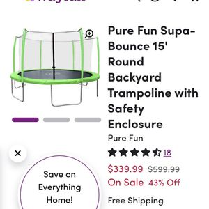 12ft. Trampoline for Sale in Visalia, CA