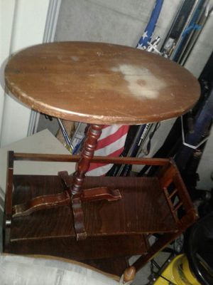30 inch tall antique side table for Sale in Austin, TX