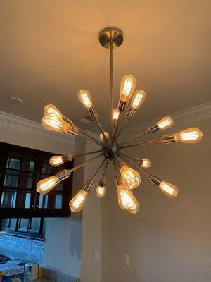 Modern dining chandelier (bid me down) for Sale in Fort Washington, MD