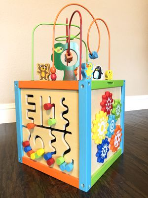 Discovery Wooden Activity Cube Baby / Toddler Play Toy for Sale in Frisco, TX