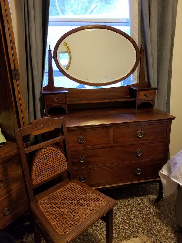Antique dresser chair nightstand