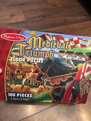 Melissa and Doug medieval floor Puzzle - 100 pieces - preschool for Sale in AZ, US
