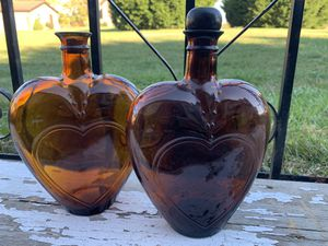 Heart Shaped Brown Glass Bottles Paul Masson 4600 for Sale in Rushville, OH