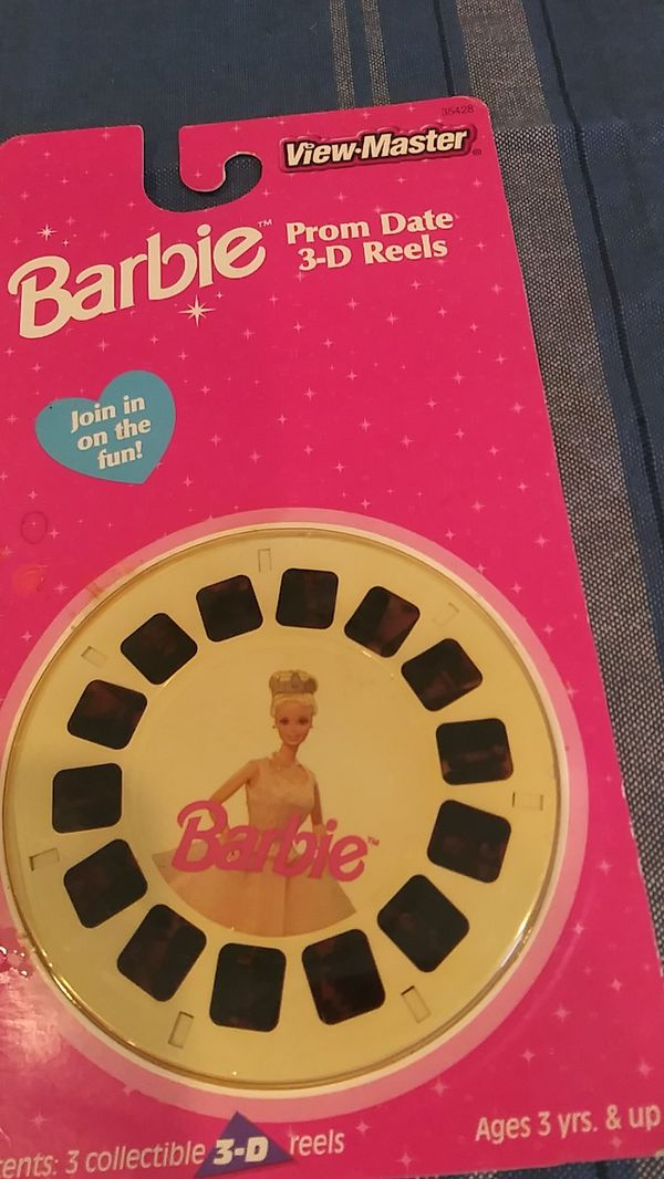 Vintage view master Barbie and Pooh.