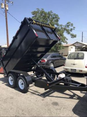 8 x 12 x 3 Dump Trailer with tarp kit for Sale in Los Angeles, CA