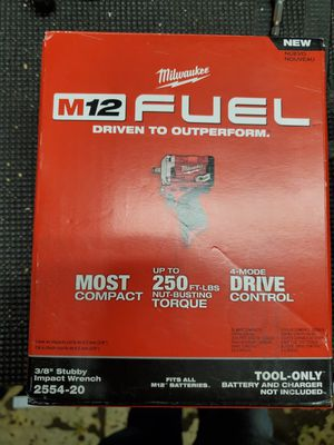 milwaukee m12 stubby impact 3/8 for Sale in Lombard, IL