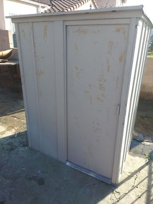 "Metal storage shed. 68""T 54""W 43""D. I just bought it. It's to small for me. There's no floor. for Sale in Los Angeles, CA"