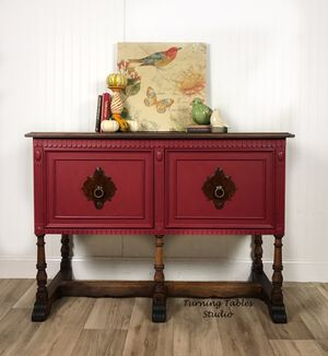 Antique Jacobean Sideboard Buffet Console for Sale in Centreville, VA