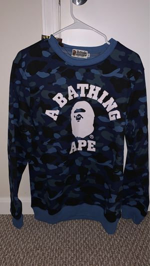 Blue BAPE camo sweatshirt size M new w tags for Sale in Herndon, VA