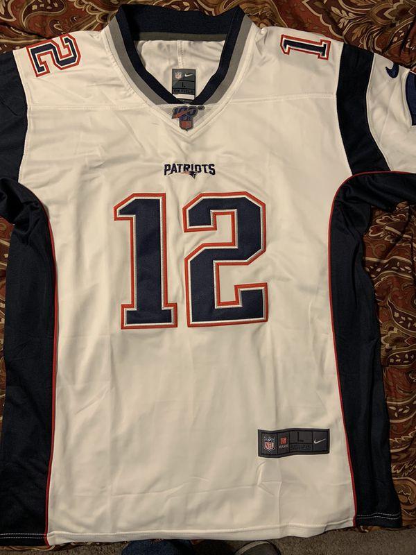 New L Tom Brady Patriots jersey (stitched)