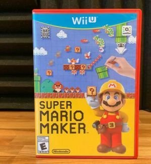 Super Mario Maker (Nintendo Wii U, 2015) for Sale in Savoy, IL