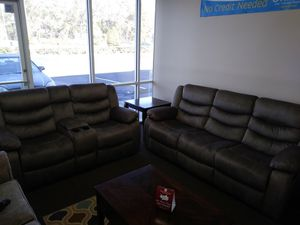 Ridgeway by standard reclining sofa and reclining loveseat with console on sale 998 for Sale in Orlando, FL