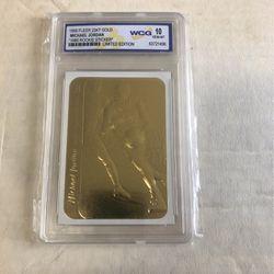 CARD MICHAEL JORDAN 23KT GOLD STICKER ROOKIE GEM 10 for Sale in Downey,  CA