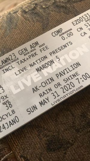 Maroon 5 tickets to for $50.00 for Sale in Phoenix, AZ