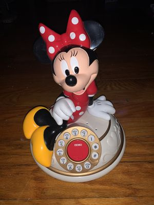 Vintage Disney Minnie Mouse Desk Phone Telemania Collectable for Sale in Tinton Falls, NJ