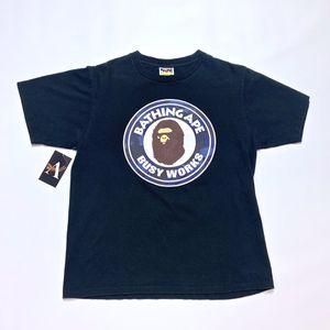 Bape A Bathing Ape Navy Busy Works Camo Shirt Size Medium for Sale in Tracy, CA