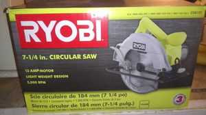 Ryobi Circular Saw 13amp Motor with Extra Blade for Sale in Bakersfield, CA