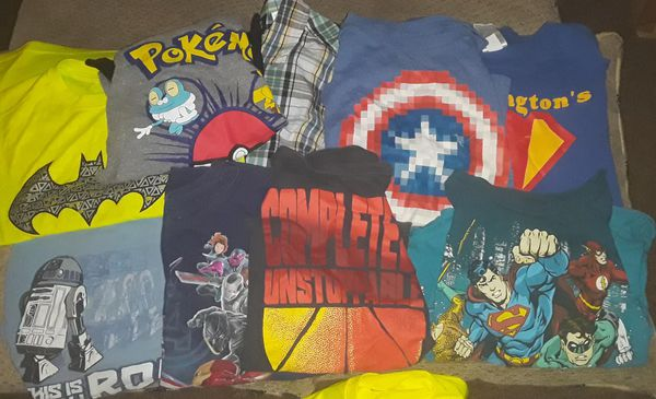 Assorted boys shirts 10-12 11 items