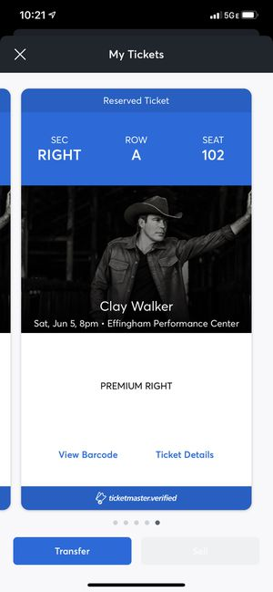 Clay walker tickets for Sale in Aurora, IL