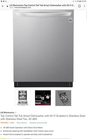 LG SMART DISHWASHER IN STAINLESS STEEL 2018 for Sale in Hillcrest Heights, MD