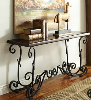 Formal Console table Iron and Solid Wood for Sale in Manassas, VA