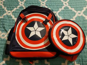 Captain American Bookbag with Detachable Shield for Sale in Liberty, SC